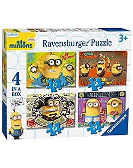 Minions Movie 4 in a Box Jigsaw