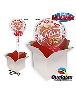 Red Hearts Valentine Bubble Balloon
