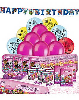 Paw Patrol Pink Party Kit for 16