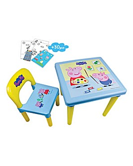Peppa Pig Activity Table & Chair Set