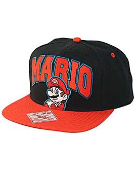 Super Mario Bros Mario Logo Snapback Cap