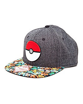 Pokemon 3D PokeBall Snapback Cap