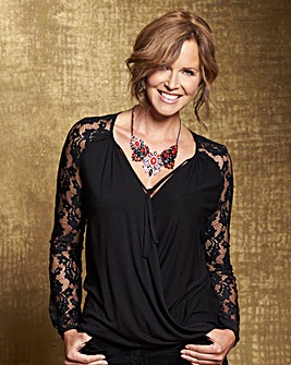 Lace Sleeve Wrap Top