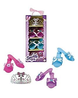 Sparkle Girlz Dress Up Shoes and Tiara