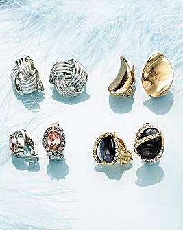 Clip on Earrings Box of 4