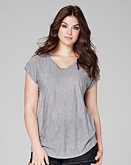 Grey Marl - V-neck T-shirt