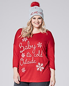 Red Long Sleeve Christmas T-shirt