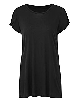 Black Twist Cold Shoulder T-shirt