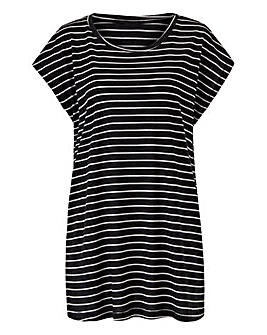 Stripe Viscose Boyfriend T-shirt