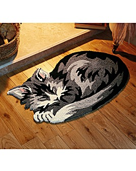 Grey Cat Rug