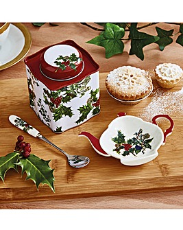 Holly and Ivy 3 Piece Tea Gift Set