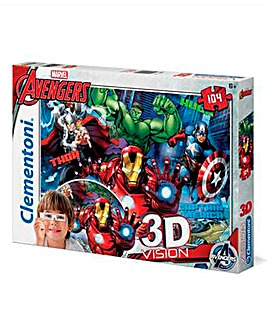 Marvel Avengers 104pc 3-D Puzzles