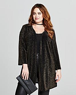Gold/Black Glitter Kimono