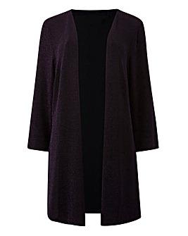 Magenta/Black Glitter Kimono