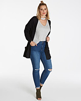 Black Boyfriend Long Sleeve Cardigan