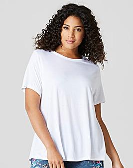 White Short Sleeve Swing T-shirt
