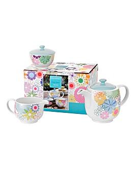 Crazy Daisy 3 Piece Tea Set