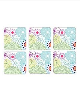 Crazy Daisy Set of 6 Coasters