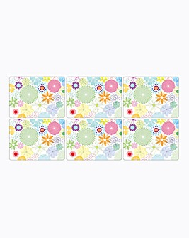 Crazy Daisy Set of 6 Placemats