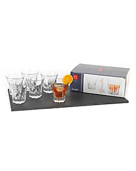 Crystal Fluente Whiskey Glasses Set Of 6