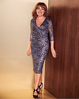 Lorraine Kelly Metallic Dress