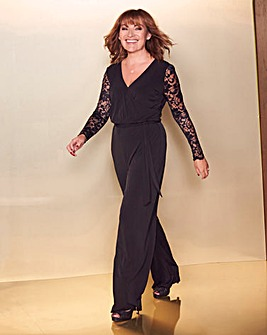 Lorraine Kelly Lace Sleeve Jumpsuit