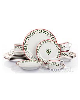 20 Piece Holly Dinnerware Set