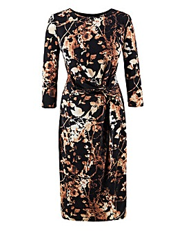 Grace Gold Digital Floral Print Dress