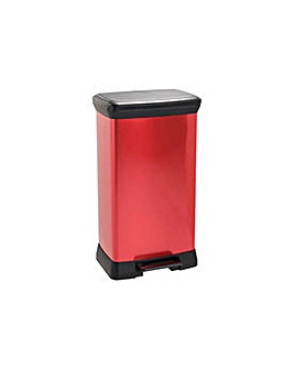 Curver 50 Litre Pedal Bin - Red.