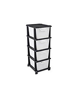 Keter 4 Drawer Tower Unit - Black
