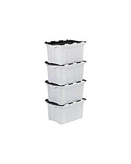 40 Ltr Black Crocodile Lid Storage Boxes