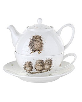 Wrendale - Tea For One with Saucer (Owl)