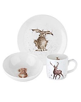 Wrendale - 3pce set (plate,bowl & mug)