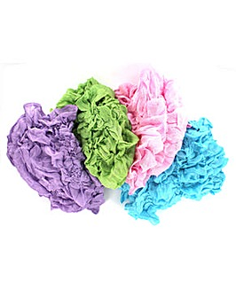 Set Of 4 Crinkle Scarves