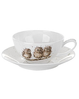 Wrendale - Cappuccino Cup & Saucer (Owl)