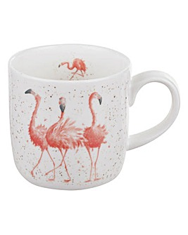 Wrendale - Pink Ladies Mug (Flamingos)