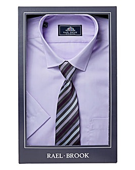 Rael Brook S/S Boxed Shirt With Tie