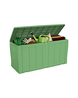 Keter Wood Effect Storage Box - Green.