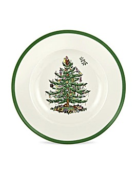 Christmas Tree Soup Plate x4