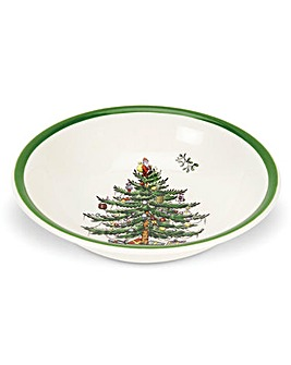 Christmas Tree 8 Inch Cereal Bowl x4