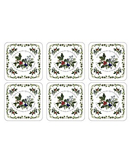 The Holly & The Ivy Coasters x6