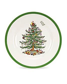 Christmas Tree 8 Inch Plate x4