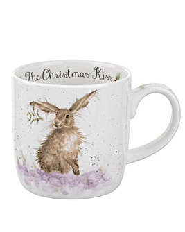Wrendale The Christmas Kiss Mug