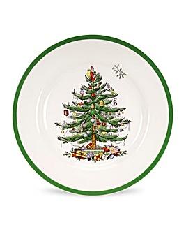 Christmas Tree Dinner Plate x4