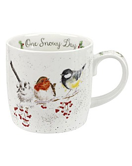 Wrendale One Snowy Day (Birds) Mug