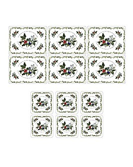 Holly & The Ivy Placemats FREE Coasters
