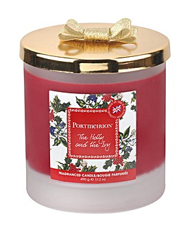 Portmeirion Holly & Ivy 2 Wick Candle