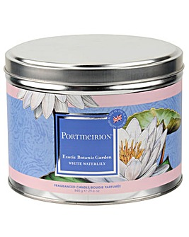 Portmeirion WhiteWaterlily 3 Wick Candle