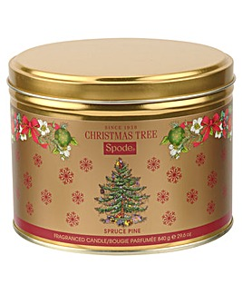 Spode Christmas Tree 3 Wick Candle