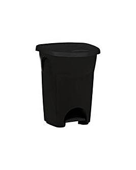 Curver Eureka 50L Pedal Bin - Black